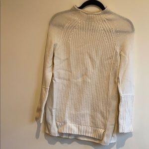 Jcrew- white tunic sweater